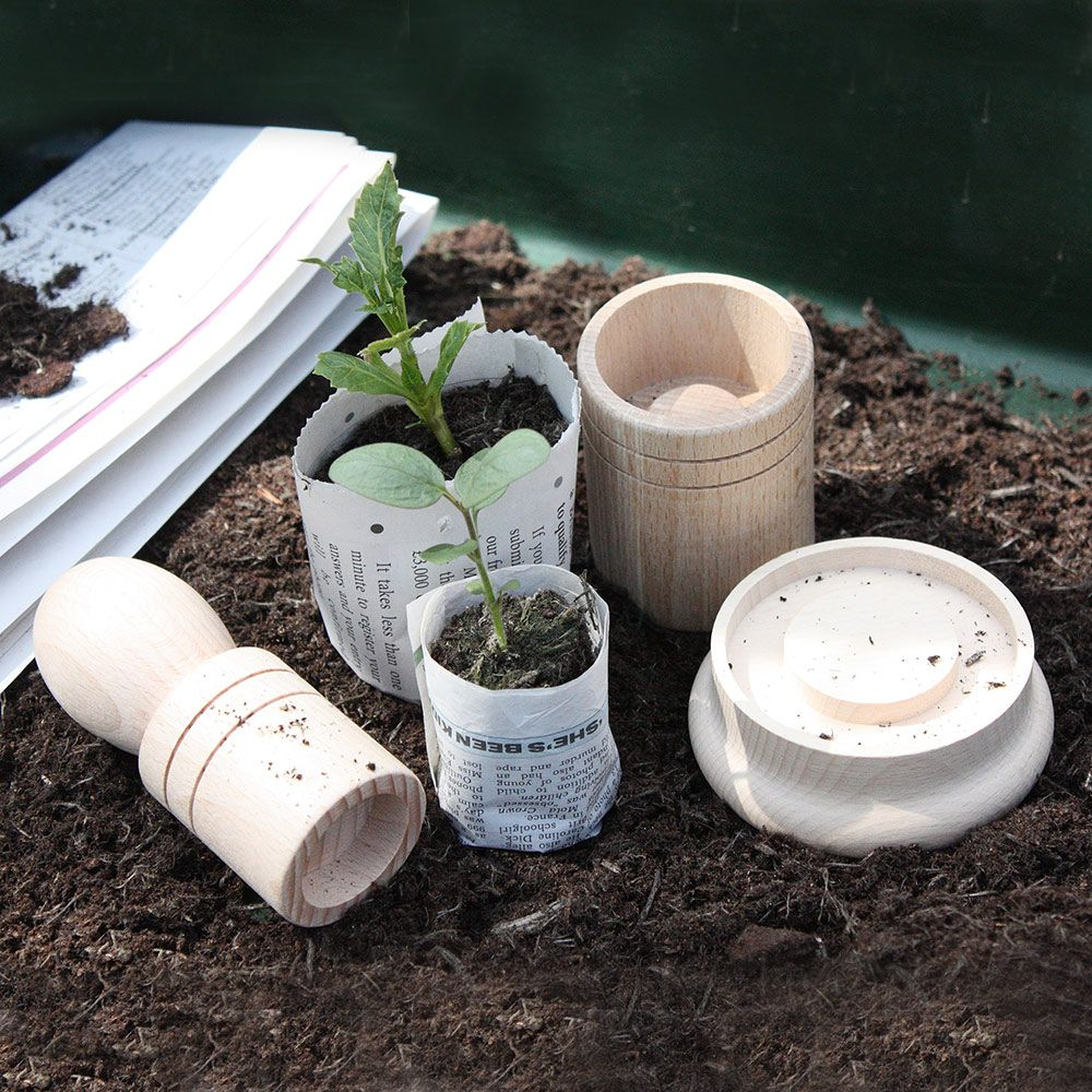 Paper Pot Maker for Seedlings - Makes 2 Sizes of Pots £6.99