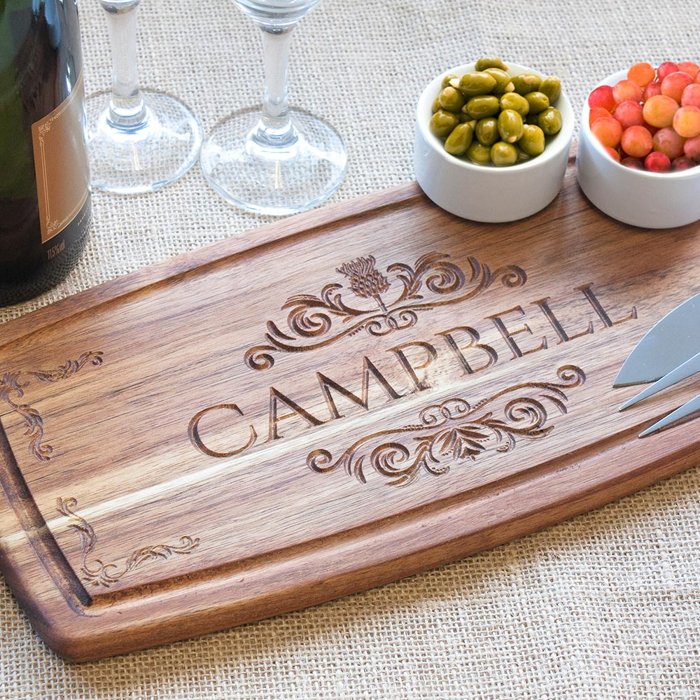 Personalised Engraved Wooden Acacia Serving Platter £19.99