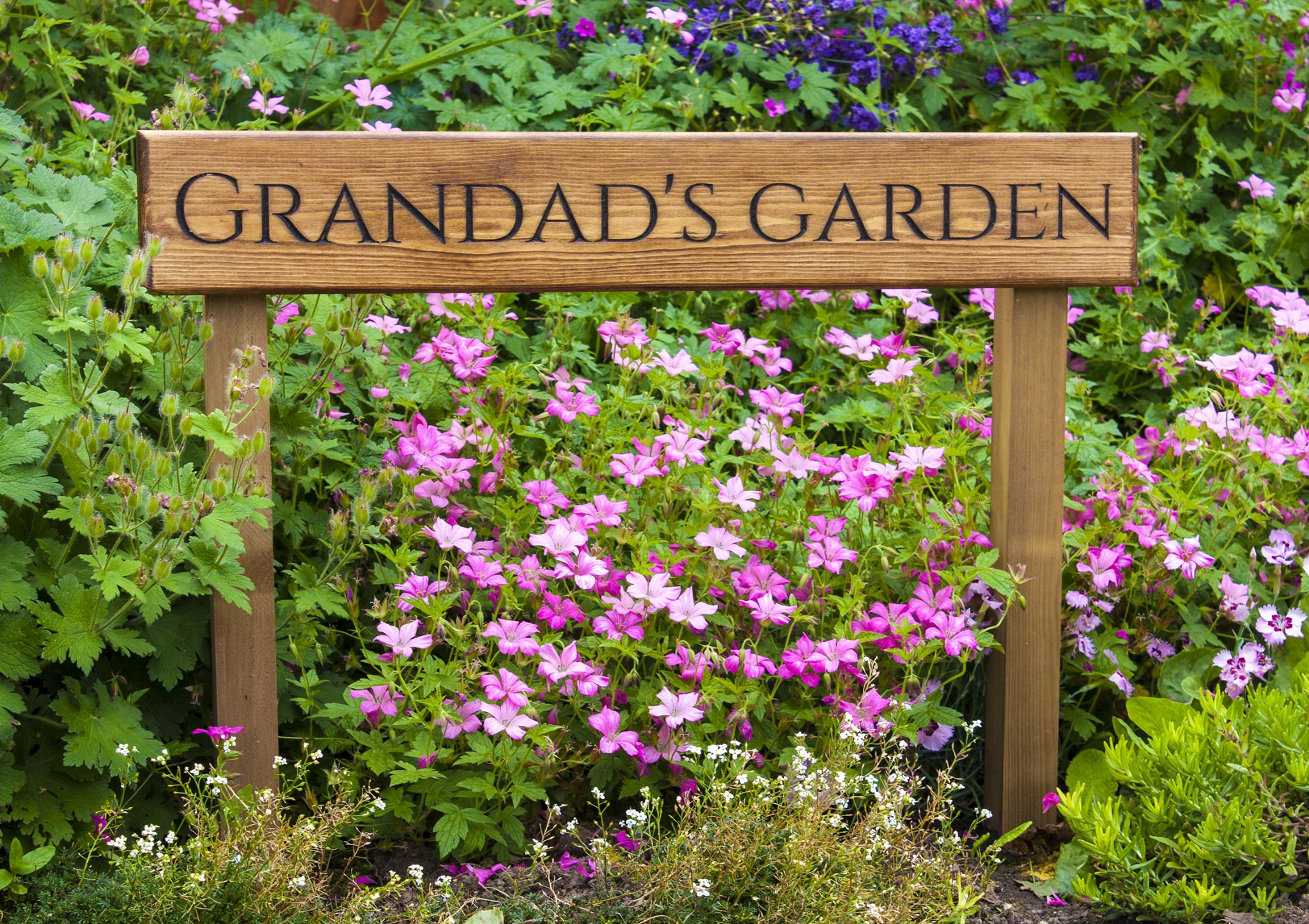 Personalised Engraved Wooden Garden Sign From Only 19 99