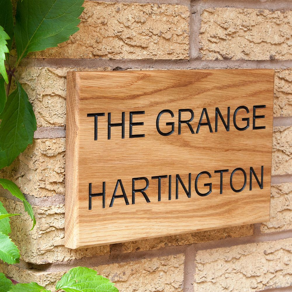 Personalised Oak House Name Sign from £19.99