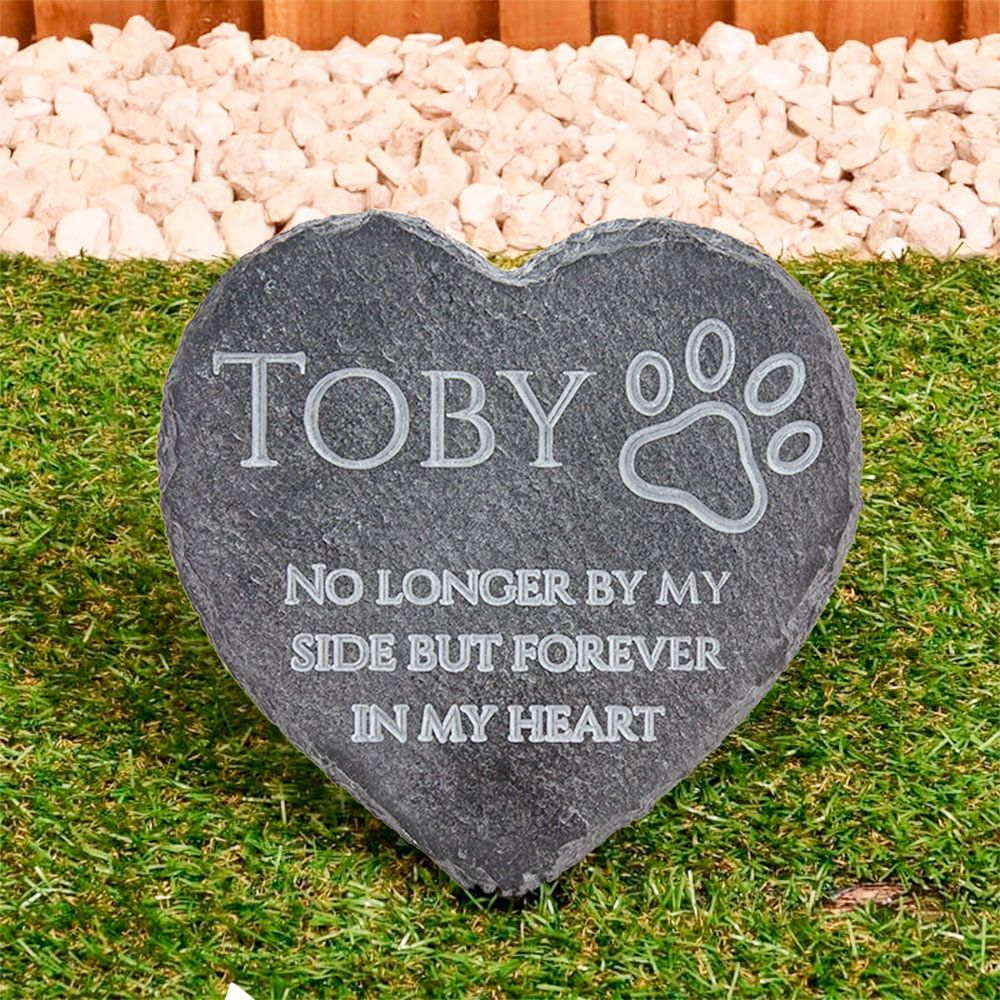 Personalised Slate Pet Memorial Heart